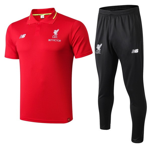 Polo Foot Ensemble Complet Liverpool 2018-2019 Rouge Noir